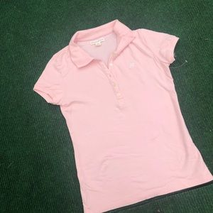 AEROPOSTALE  baby pink polo top size M